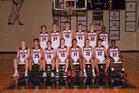 Parkway South Patriots Boys Varsity Basketball Winter 17-18 team photo.