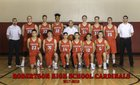 Robertson Cardinals Boys Varsity Basketball Winter 17-18 team photo.