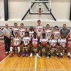 City Honors Centaurs Boys Varsity Basketball Winter 17-18 team photo.