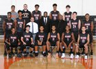 Orange Lions Boys Varsity Basketball Winter 17-18 team photo.