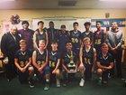 Southlands Christian Eagles Boys Varsity Basketball Winter 17-18 team photo.