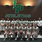 Lewiston-Porter Lancers Boys Varsity Basketball Winter 17-18 team photo.