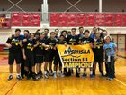 Oswego Bucs Boys Varsity Volleyball Fall 18-19 team photo.