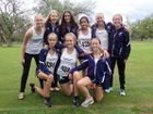 Santa Fe Prep Blue Griffins Girls Varsity Cross Country Fall 18-19 team photo.