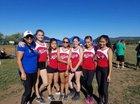 McCurdy Bobcats Girls Varsity Cross Country Fall 18-19 team photo.