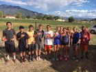 Taos Tigers Girls Varsity Cross Country Fall 18-19 team photo.