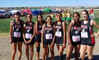 Native American Community Academy Eagles Girls Varsity Cross Country Fall 18-19 team photo.
