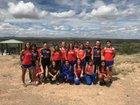 Los Lunas Tigers Girls Varsity Cross Country Fall 18-19 team photo.