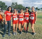 Roswell Coyotes Girls Varsity Cross Country Fall 18-19 team photo.