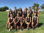 Alamogordo Tigers Girls Varsity Cross Country Fall 18-19 team photo.