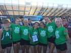 Albuquerque Bulldogs Girls Varsity Cross Country Fall 18-19 team photo.