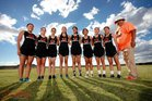 Gallup Bengals Girls Varsity Cross Country Fall 18-19 team photo.