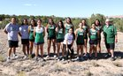 Pojoaque Valley Elks/Elkettes Girls Varsity Cross Country Fall 18-19 team photo.