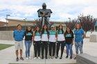 Del Norte Knights Girls Varsity Cross Country Fall 18-19 team photo.