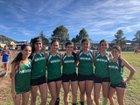 Mora Rangers/Rangerettes Girls Varsity Cross Country Fall 18-19 team photo.