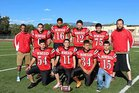 New Mexico School for the Deaf Roadrunners Boys Varsity Football Fall 14-15 team photo.