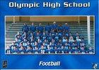 Olympic Trojans Boys Varsity Football Fall 14-15 team photo.