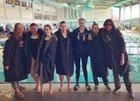 Desert Academy Wildcats Girls Varsity Swimming Winter 18-19 team photo.