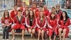 Pocahontas Redskins Girls Varsity Swimming Winter 18-19 team photo.