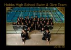 Hobbs Eagles Girls Varsity Swimming Winter 18-19 team photo.