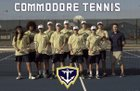 Eau Gallie Commodores /Ftg Boys Varsity Tennis Spring 17-18 team photo.