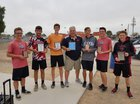 Combs Coyotes Boys Varsity Tennis Spring 17-18 team photo.