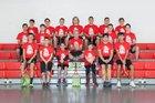 Centennial Hawks Boys Varsity Tennis Spring 17-18 team photo.
