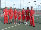 Valencia Jaguars Boys Varsity Tennis Spring 17-18 team photo.