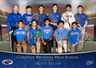 Christian Brothers Falcons Boys Varsity Tennis Spring 17-18 team photo.