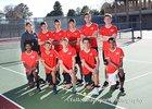 Albuquerque Academy Chargers Boys Varsity Tennis Spring 17-18 team photo.