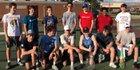 South Mecklenburg Sabres Boys Varsity Tennis Spring 17-18 team photo.