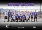 Cesar Chavez Champions Boys Varsity Tennis Spring 17-18 team photo.