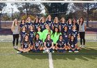 Saugus Centurions Girls JV Soccer Winter 17-18 team photo.