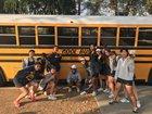Granada Hills Charter Highlanders Girls Varsity Tennis Fall 17-18 team photo.