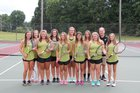 Kings Mountain Mountaineers Girls Varsity Tennis Fall 17-18 team photo.