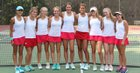 Charlotte Catholic Cougars Girls Varsity Tennis Fall 17-18 team photo.