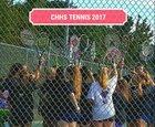 Corinth Holders Pirates Girls Varsity Tennis Fall 17-18 team photo.