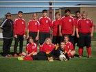 Lead Hill Tigers Boys Varsity Soccer Spring 16-17 team photo.