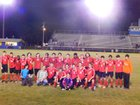 Lincoln County Red Devils Boys Varsity Soccer Spring 16-17 team photo.
