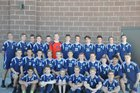 Salem Hills Skyhawks Boys Varsity Soccer Spring 16-17 team photo.