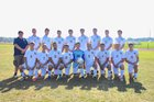 Madrid-Waddington Yellowjackets Boys Varsity Soccer Fall 17-18 team photo.