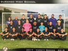 Durango Trailblazers Boys Varsity Soccer Fall 17-18 team photo.