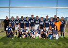 Silver Fighting Colts Boys Varsity Soccer Fall 17-18 team photo.