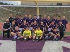 Baldwin Highlanders Boys Varsity Soccer Fall 17-18 team photo.