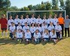Riverside Christian Crusaders Boys Varsity Soccer Fall 17-18 team photo.