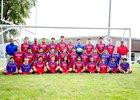 Iroquois West Raiders Boys Varsity Soccer Fall 17-18 team photo.
