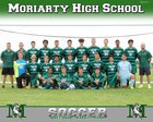 Moriarty Pintos Boys Varsity Soccer Fall 17-18 team photo.