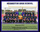 Hermiston Bulldogs Boys Varsity Soccer Fall 17-18 team photo.