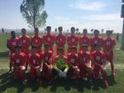 Robertson Cardinals Boys Varsity Soccer Fall 17-18 team photo.