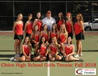 Chico Panthers Girls Varsity Tennis Fall 18-19 team photo.